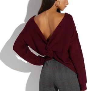 Sweaters - NWT Knot back sweater